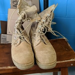 Lightly used combat boots